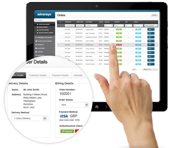 Advansys eCommerce Management System EMS