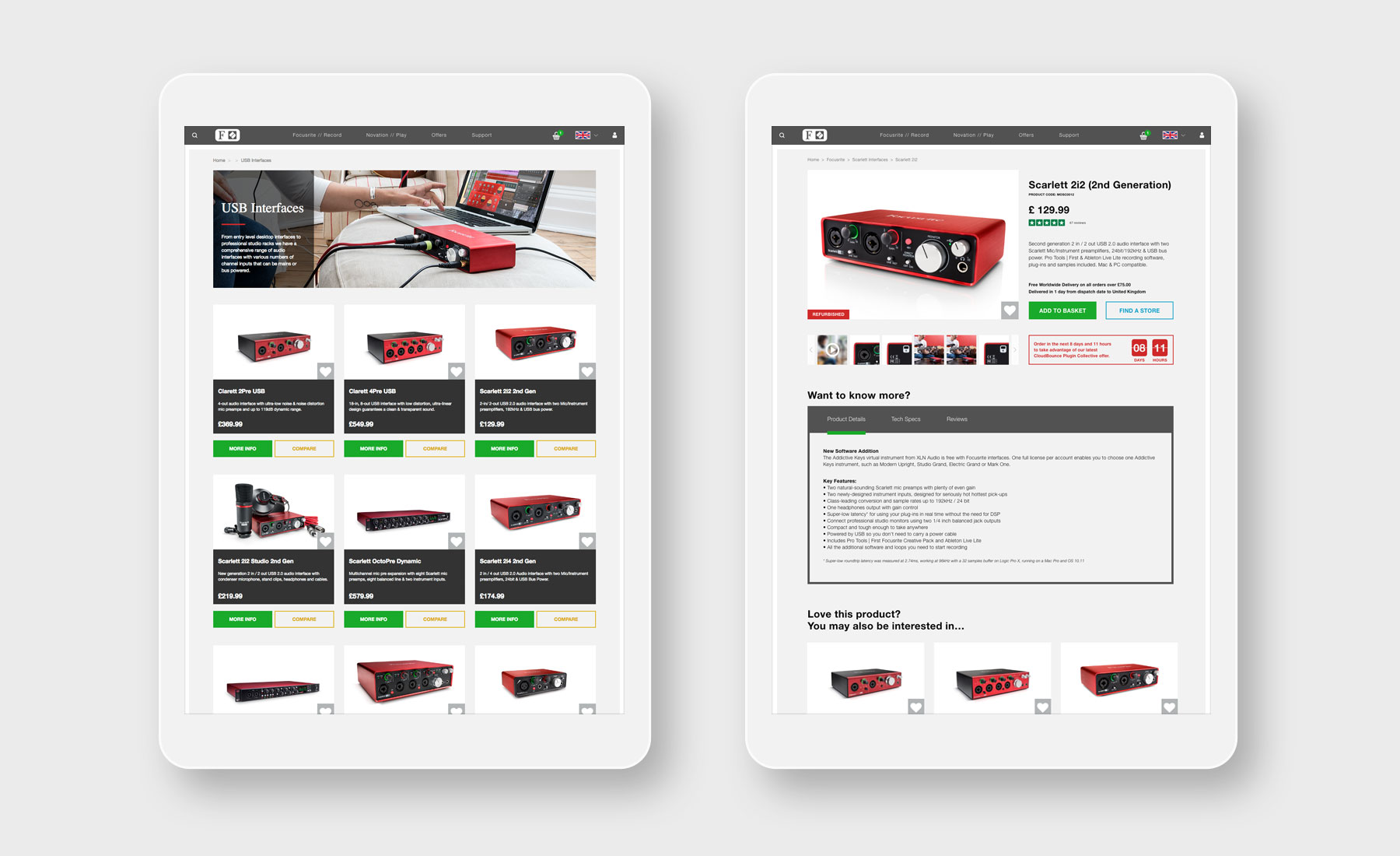 An eCommerce solution for Focusrite   Case Study