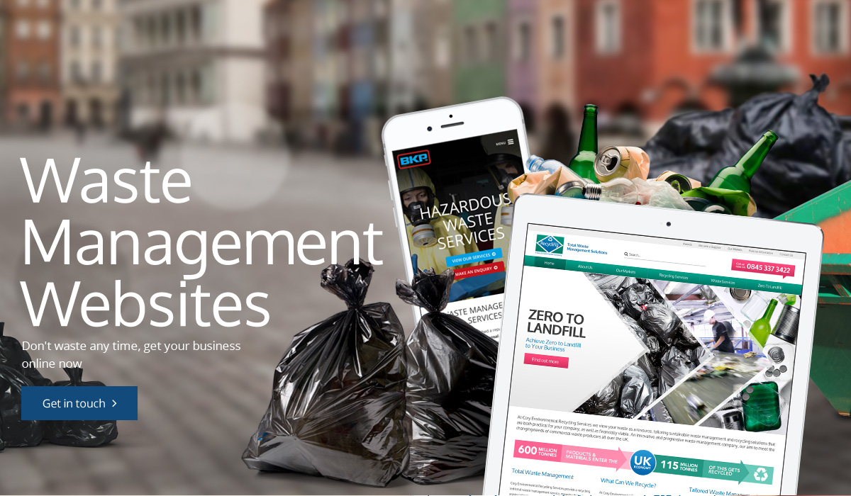 Waste Management Website Design Egham