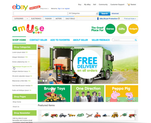 Advansys custom ebay store design ebay shop templates for Ebay store design templates free